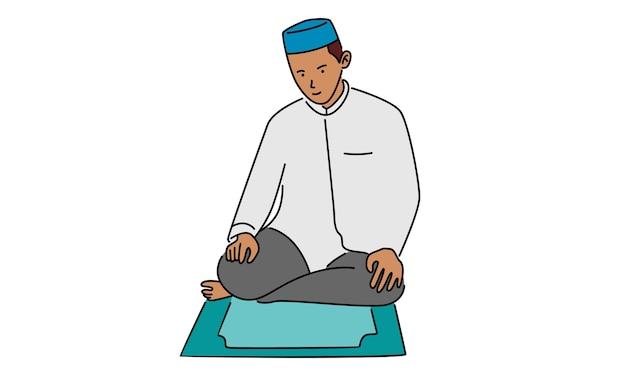 Muslimischer mann betet