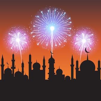 Muslimisches gemeinschaftsfest.