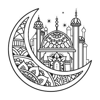 Muslimisches illustrationsdesign