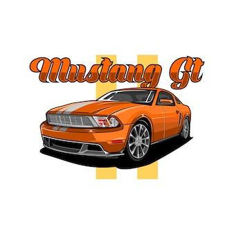 Mustang-gt-vektor