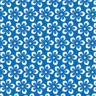Muster auf blauem hintergrund
