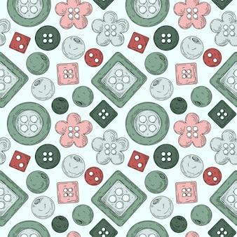 Muster aus einer reihe von knöpfen zum nähen.