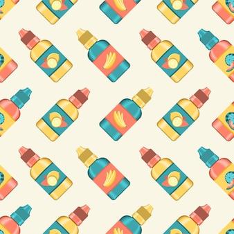Muster der e-flüssigkeit zum dampfen. aromatisierte flüssigkeit für elektronische zigarette. realistisch