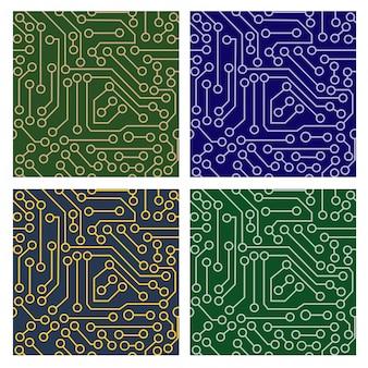 Muster der elektronischen schaltung