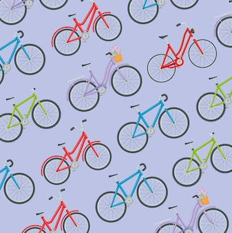 Muster der fahrräder