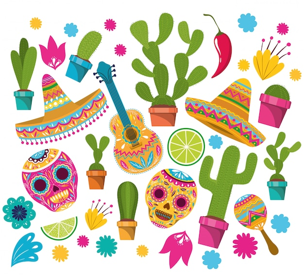 Muster der feier cinco de mayo