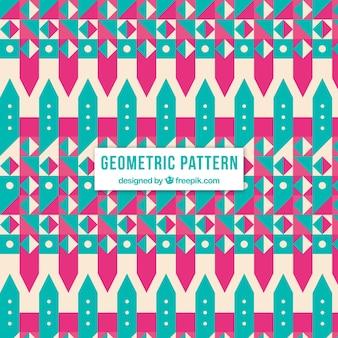 Muster der geometrischen formen der weinlese
