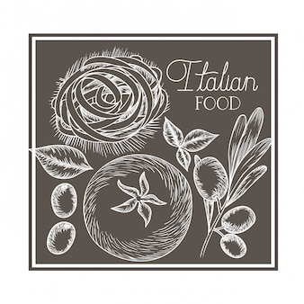 Muster der köstlichen italienischen küche