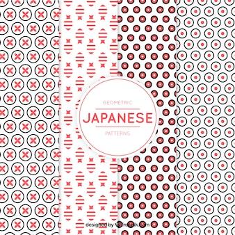 Muster der modernen geometrischen formen im japanischen stil