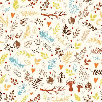 Muster-doodle-elemente