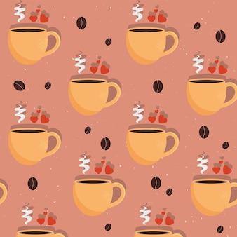 Muster für heiße tassen kaffee