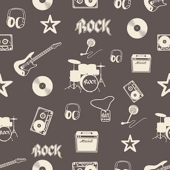 Muster für musikinstrumente. kreative und luxuriöse illustration