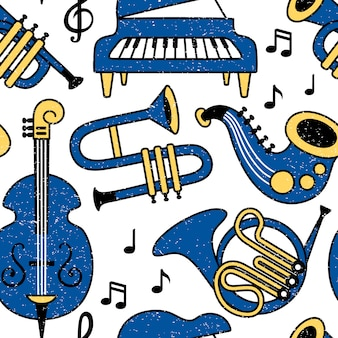 Muster für musikinstrumente