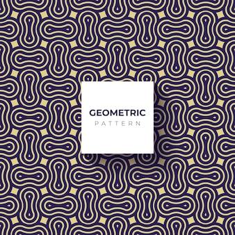Muster geometrische linie kreis abstrakte nahtlose blaue linie
