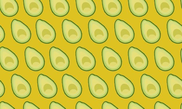 Muster geschnittene avocado