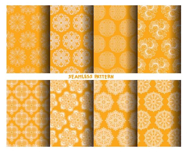 Muster-handzeichnung und -skizze der farbnatur nahtlose