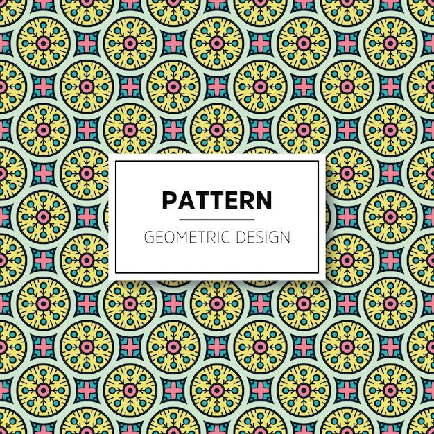 Muster-hintergrunddesign der schönen mandala nahtloses