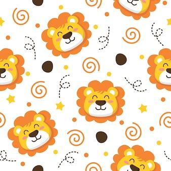 Muster-illustrationsdesign des kleinen löwen