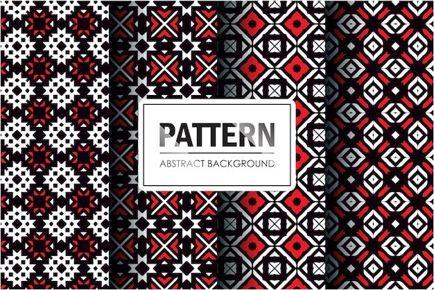 Muster in abstraktem stil gesetzt