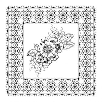 Muster in form eines mandalas mit blume