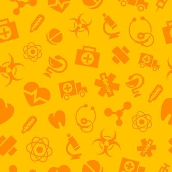 Muster medizinische monochrome icons, es besteht die möglichkeit der bearbeitung, format eps 10