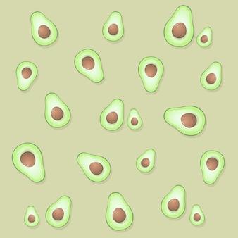 Muster mit avocado