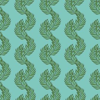 Muster mit blattpalmen. tropisches nahtloses muster mit palmblättern. exotische blätter.