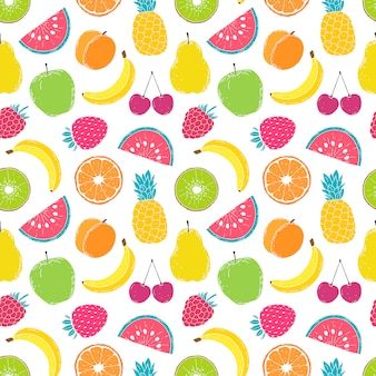 Muster mit bunten früchten