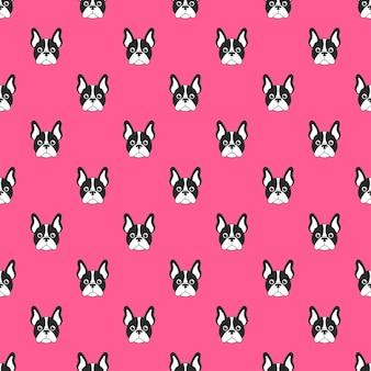 Muster mit französischem bulldoggengesicht