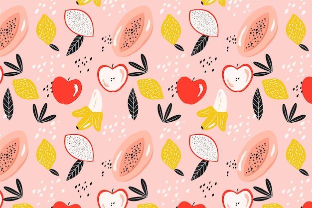 Muster mit früchten