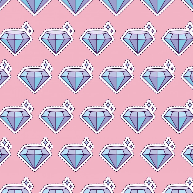 Muster mit glänzendem diamanten