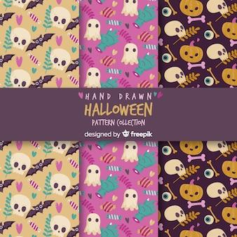 Muster mit halloween-elementen