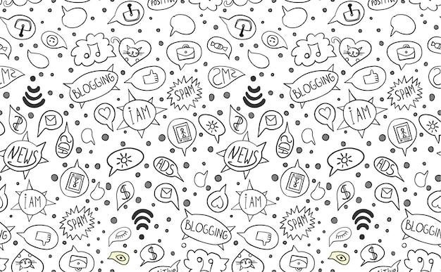 Muster mit internet-elementen