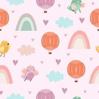 Muster mit luftballons