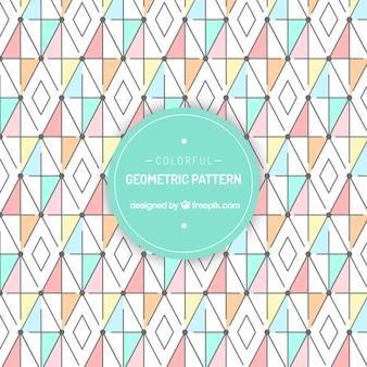 Muster mit lustigen geometrischen formen