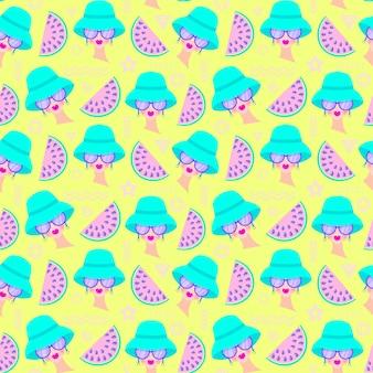Muster mit mädchen