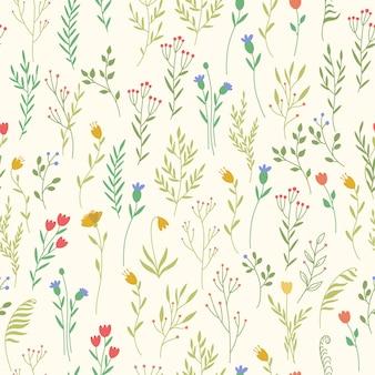 Muster mit pflanzenelementen