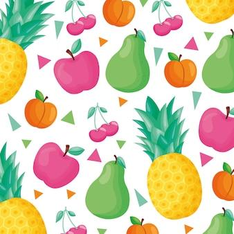 Muster mit tropischen früchten