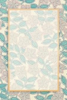 Muster mit vier früchten von william morris. original von der smithsonian institution.