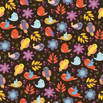Muster mit vögeln