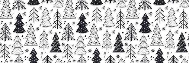 Muster nahtlos mit weihnachtsfichte neues jahr