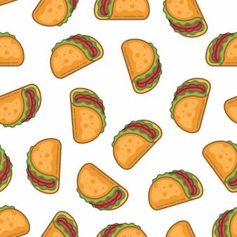 Muster nahtlos von taco