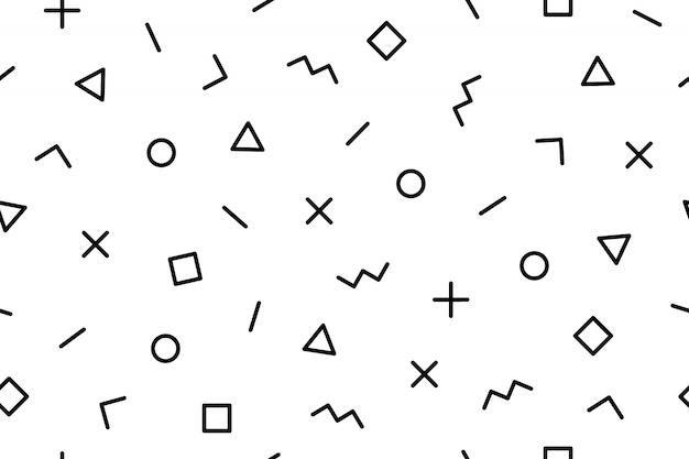 Muster. nahtlose geometrische grafische musterstile