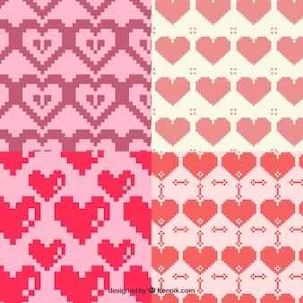 Muster pixelig herzen