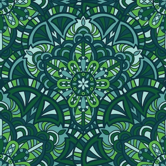 Muster-vektordesign der mandala nahtloses für tapete. stammes-ornament.