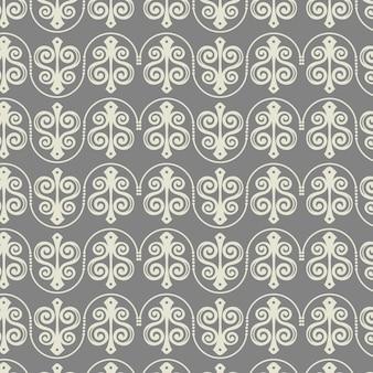 Muster-vektorhintergrund der weinlese nahtloser
