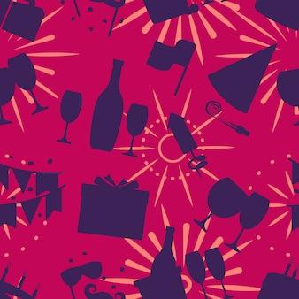 Muster-vektorillustration der feier nahtlose