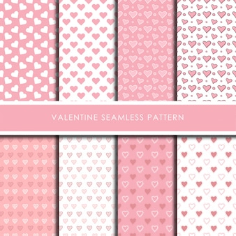 Muster-vektorsatz des valentinsgrußes romantischer nahtloser.