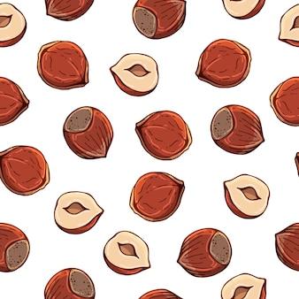 Muster von bunten illustrationen des vektors auf dem ernährungsthema