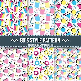 Muster von farbigen geometrischen formen